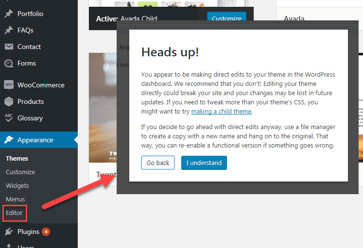 It S Not Recommended To Use Theme Editor And Plugin Editor In