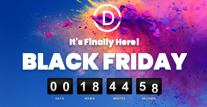c2433c83b Divi Black Friday Sale ends soon. This is something special. This is the  one time each year that Elegant Themes offers their biggest discount of all  time.