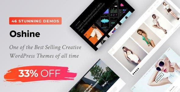 Oshine - Multipurpose Creative WordPress Theme is on sale