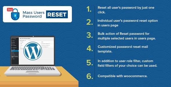 Free Download WordPress Plugin Mass Users Password Reset Pro
