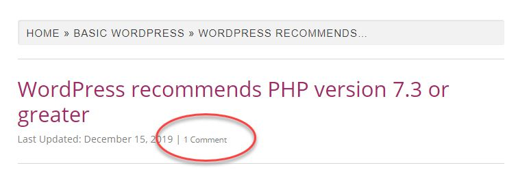 Displaying the comments count in the WordPress GeneratePress theme