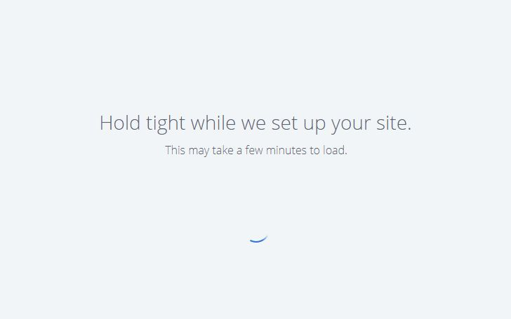 Installing a new WordPress site