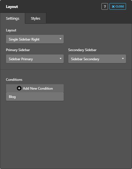 WordPress Jupiter theme - Layout settings