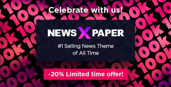 WordPress Nespaper theme on sale