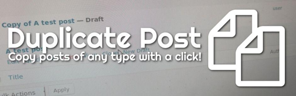 Duplicate Post  - 文の複製プラグイン