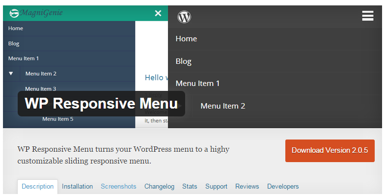 WP Responsive Menuプラグイン -  WordPressのモバイルメニューを追加