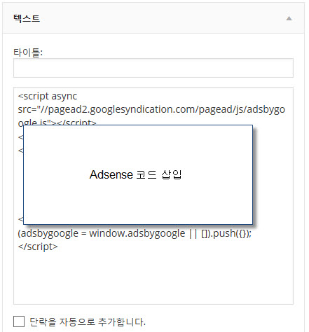 Adding Google Adsense code to text widget2