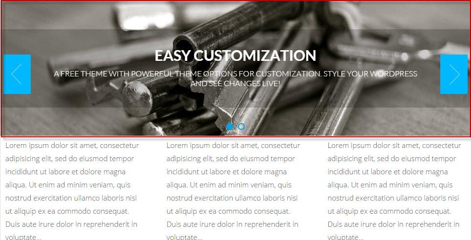 Fix slide in wordpress