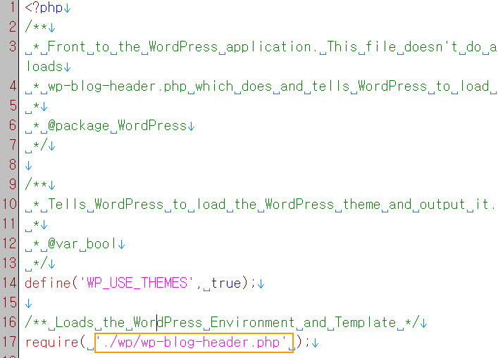 editing index file in wordpress