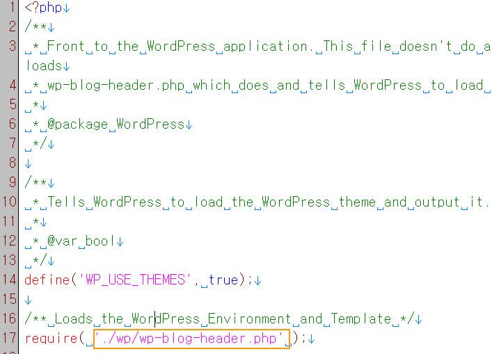 editing index file in wordpress