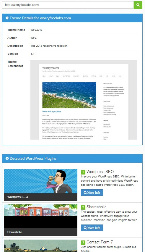 사이트에 설치된 워드프레스 테마와 플러그인 확인하는 방법
