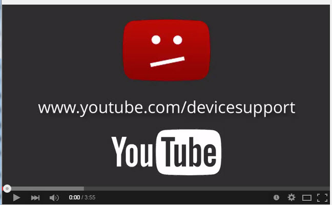 www.youtube.com/devicesupport 영상이 표시되는 문제