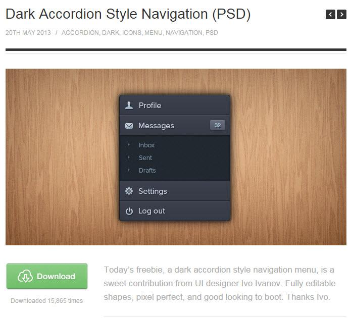 멋진 아이콘/메뉴 버튼 포토샵 소스 다운로드 받을 수 있는 사이트