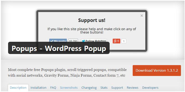 Popups  -  WordPress ポップアップ