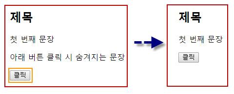 $('#test').hide() – 특정 ID 요소 숨김