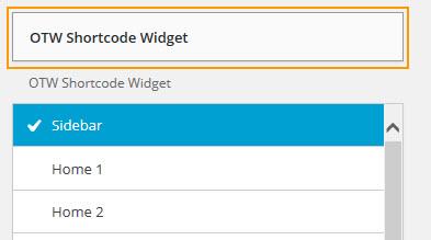 OTW Shortcode Widget
