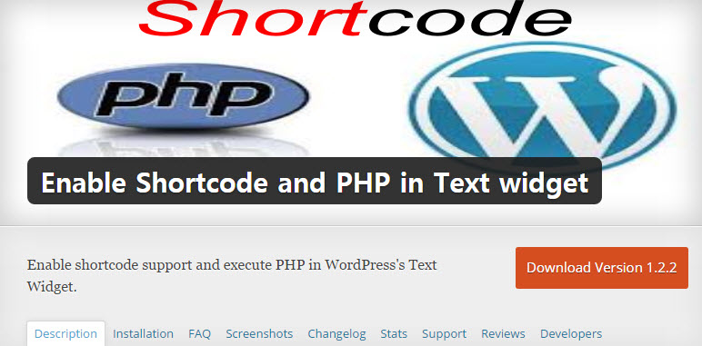 Enable Shortcode and PHP in Text widget