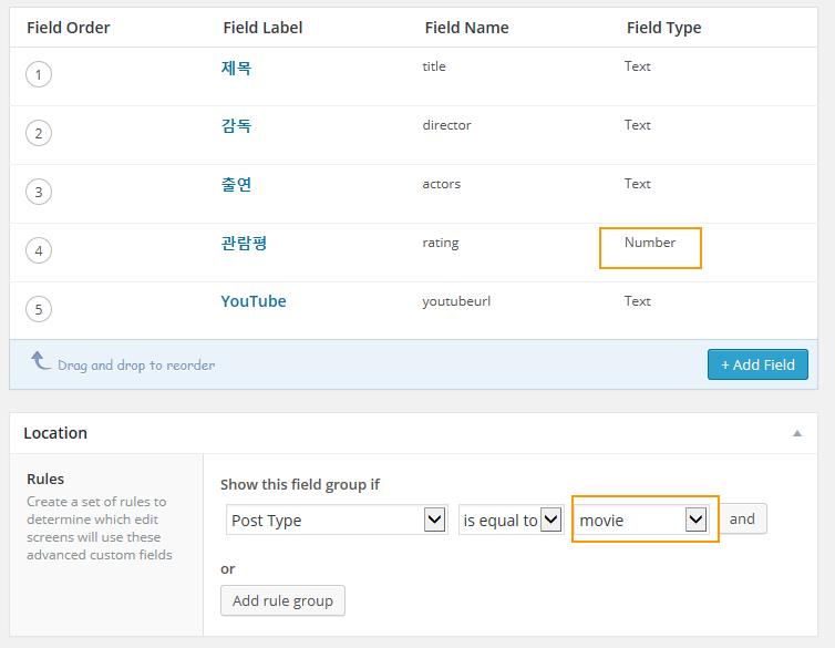 Add individual custom fields in WordPress