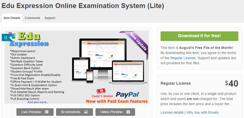 Edu Expression Online Examination System  -  WordPress プラグイン