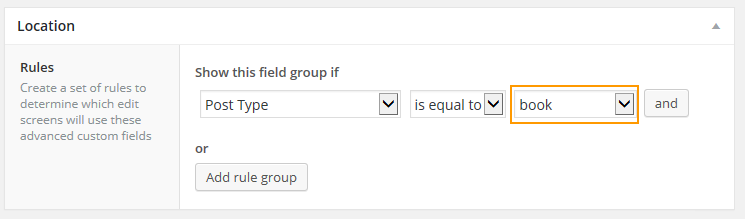 Location Custom Fields will be assigned to