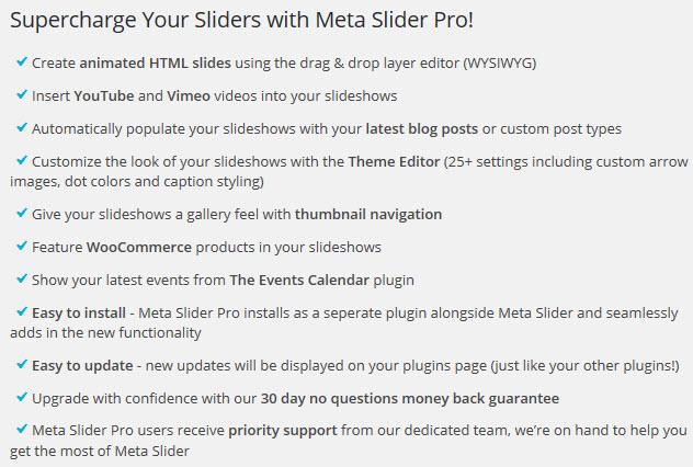 Metaslider Pro