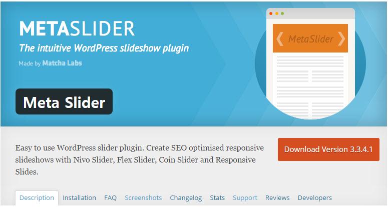 워드프레스 슬라이더 플러그인 – Meta Slider