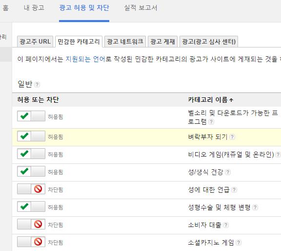 AdSense 광고 차단