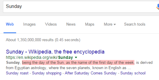 Google Sunday