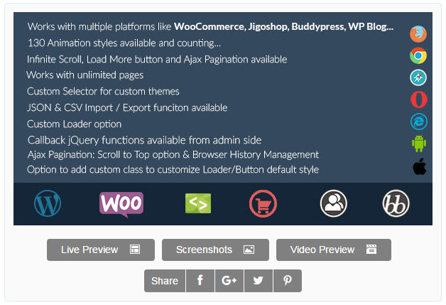 Infinite scroll for woocommerce and bbPress in WordPress