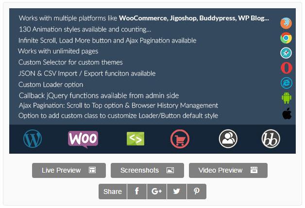 Infinite scroll for woocommerce and bbPress in WordPress