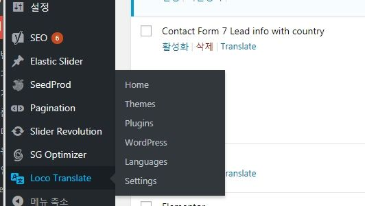 워드프레스 한글화 Loco Translate 플러그인