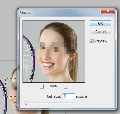 Pixelate settings