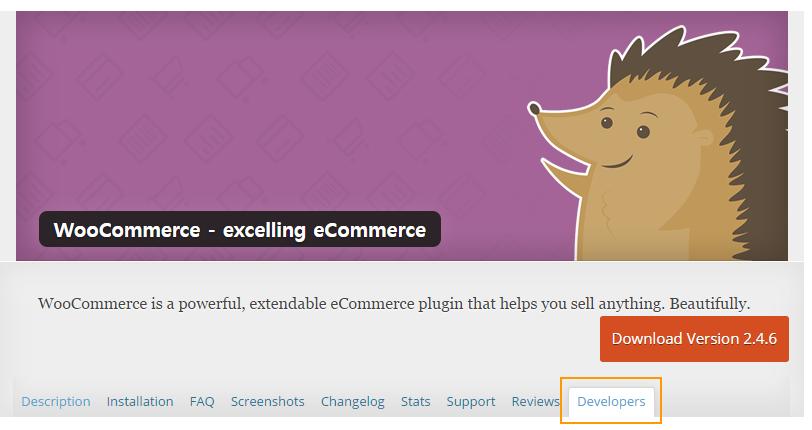 WooCommerce wordpress.org page