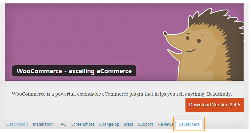 WooCommerce wordpress.org page
