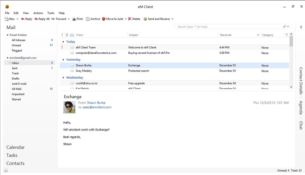지메일용 이메일 클라이언트 – eM Client