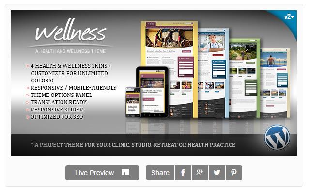 wellness wordpress theme - 워드프레스 테마 소개 - Wellness