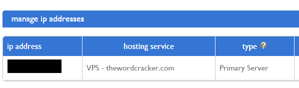 Bluehost server IP