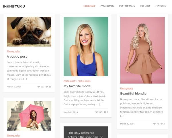 InfinityGrid WordPress Theme  - スタイリッシュな WordPress ポートフォリオのテーマの紹介(2021年)