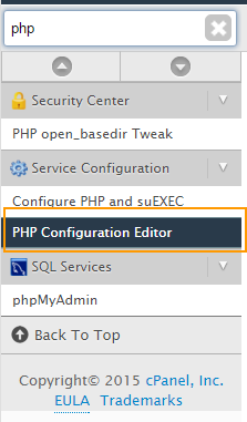 PHP Configuration Editor