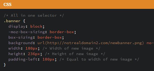 텍스트를 그림으로 대체/그림을 다른 그림으로 대체하는 CSS