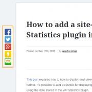 Sticky Social Media Sharing Plugin in WordPress
