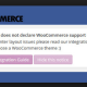 Your Theme does not declare WooCommerce support