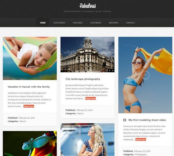 Fabulous WordPress Theme - 워드프레스 포트폴리오 테마