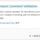 Instant Comment Validation - 워드프레스 댓글 유효성 검사 플러그인