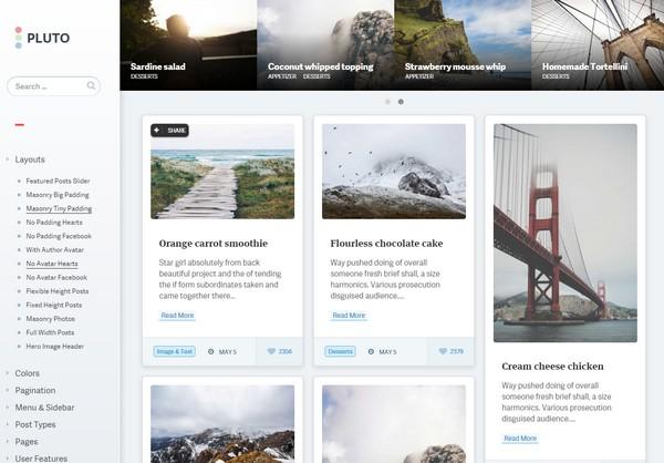 Pluto  -  WordPress テーマ -  WordPress ポートフォリオのテーマ