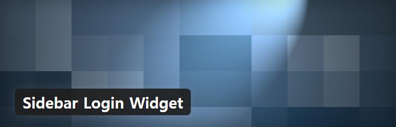 워드프레스 사이드바 로그인 폼 위젯 플러그인