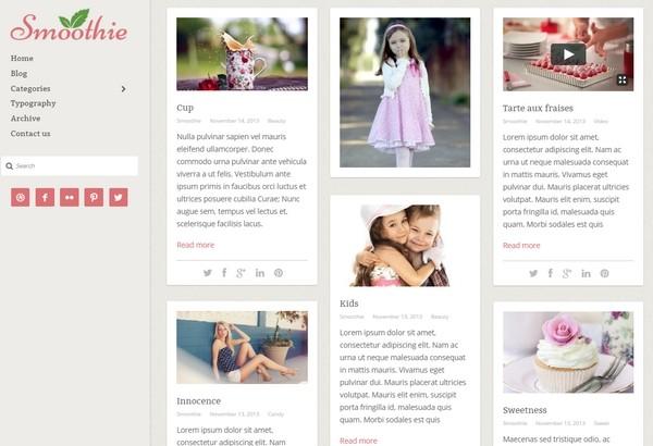 Smoothie WordPress Theme - 워드프레스 포트폴리오 테마