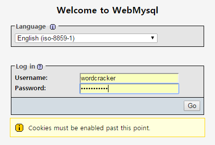 Welcome to WebMysql
