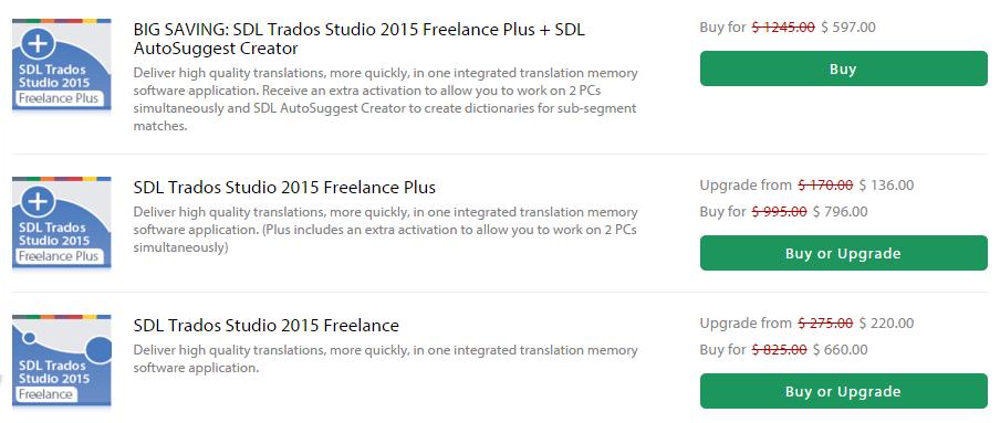 [번역] SDL Trados Studio 2015 40% 할인 – 블랙 프라이데이 특가