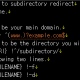 htaccess를 사용하여 하위 디렉터리로 리디렉션시키기